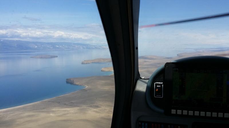 На самолёте над Байкалом